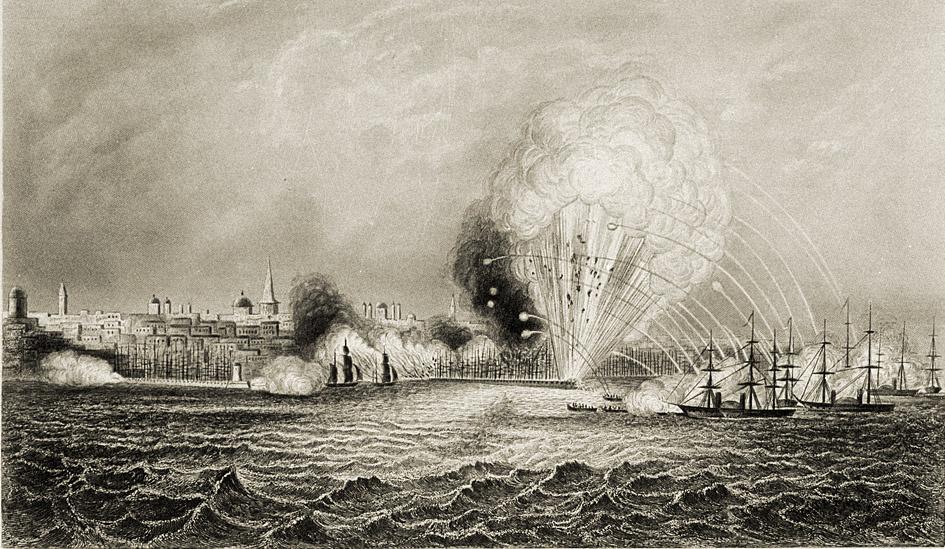 Джордж Грейтбеч. «Бомбардировка Одессы британскими и французскими кораблями 22 апреля 1854 года». Ок