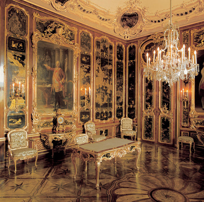 Schönbrunn Palace, the Vieux Laque Room. It was created by the decorator Isidoro Marcello Canevale f