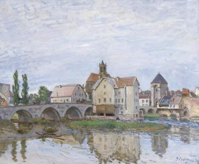 Альфред Сислей. Море-сюр-Луан, 1892 г. Частное собрание.