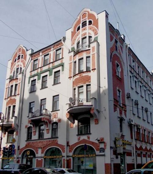 The former tenement house of K. K. Keldal on Kamennoostrovsky prospect, 13. Architect Wilhelm Schaub