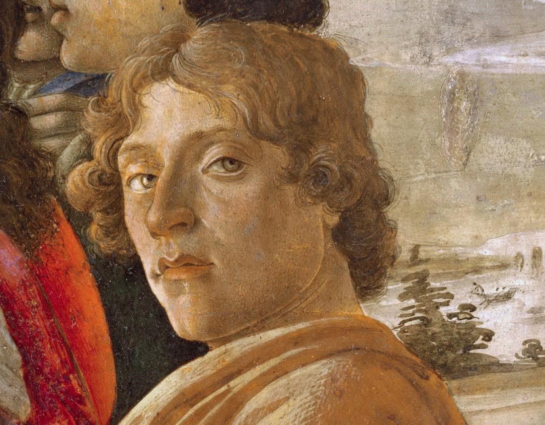"A portrait sketch of Sandro Botticelli:  ""Whimsical mind"", dreamer and joker"