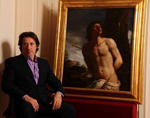 Актер «Клана Сопрано» с картиной Гверчино: нашел и распознал!