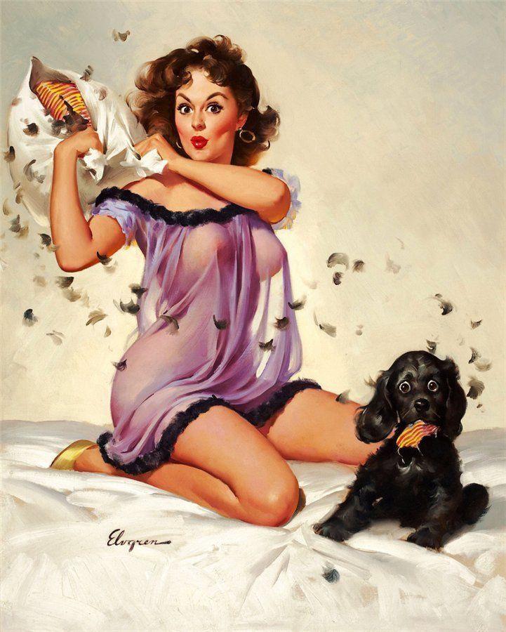 Пин-ап: «пришпиленная» кокетка,  или как американские художники создавали каноны женской красоты (ч.2)