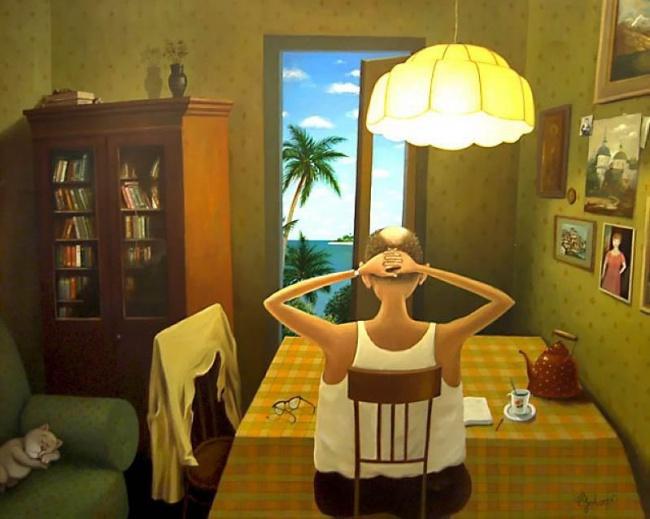 Музы из сберкасс и дым отечества белорусского художника Валентина Губарева: беседа об иронии, вдохновении и философии