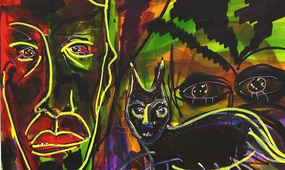 Тим Бертон, Дэвид Линч: выставка – продажа. И ТОП-5 художников-киноактеров: Керри, Хопкинс, Лью и другие
