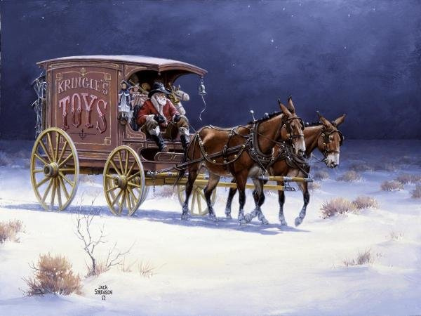 Top 10 paintings of cheerful bustle: let's go Christmas shopping!