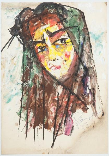 Анатолий Зверев. Портрет Лили. 1957