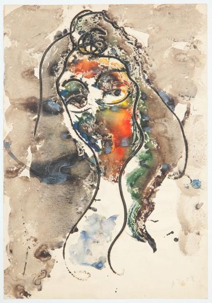 Анатолий Зверев. Женский портрет. 1957–1959
