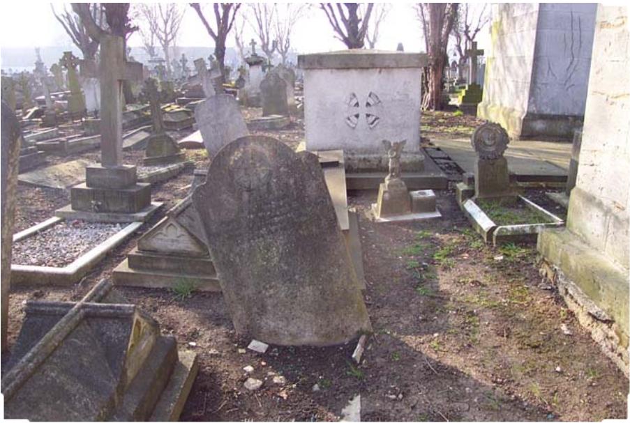 Надгробие на могиле Луиса Уэйна