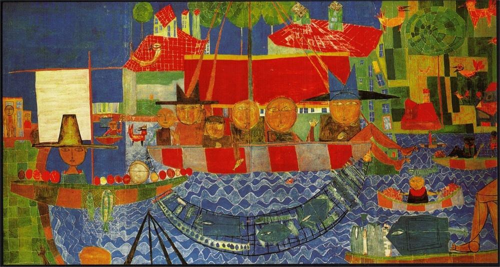 Неугомонные австрийцы Фридрих Хундертвассер и Эрнст Фукс: общие краски разных фантазий