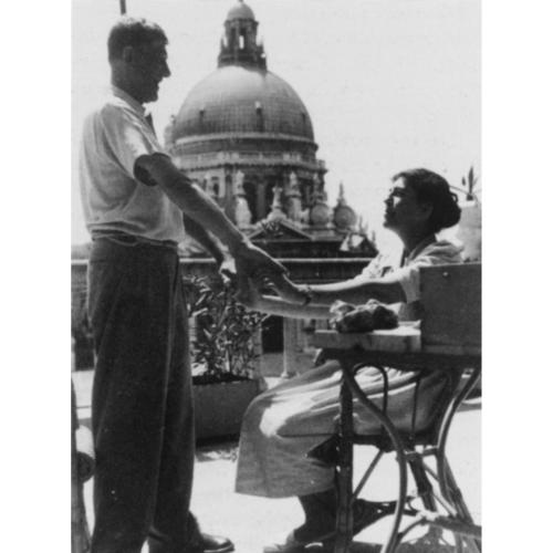 Olda and Oskar Kokoschka in Venice, 1948.
