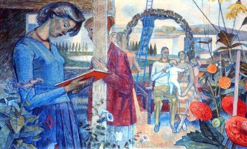 Удивительная находка и выставка забытых картин художницы времён Второй мировой в Британии