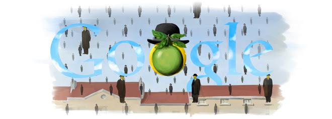 110 лет со дня рождения Рене Магритта (Google с разрешения «Наследия Рене Магритта» и Общества защит