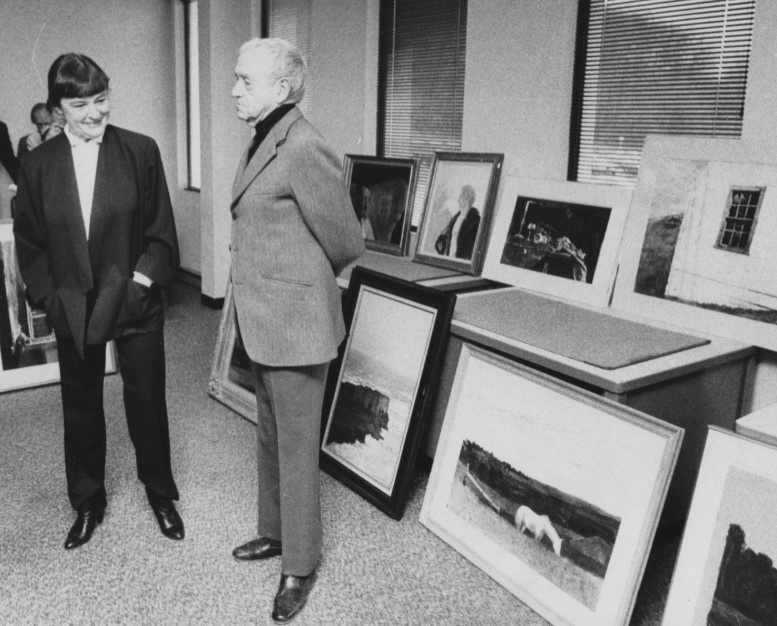 Andrew and Betsy Wyeth at a press conference in 1983