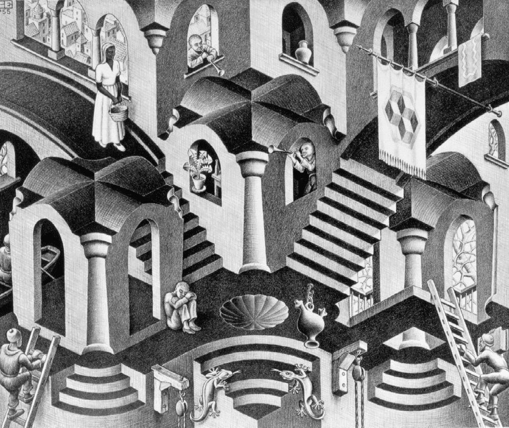 Парадоксы Маурица Эшера - на выставке в Москве