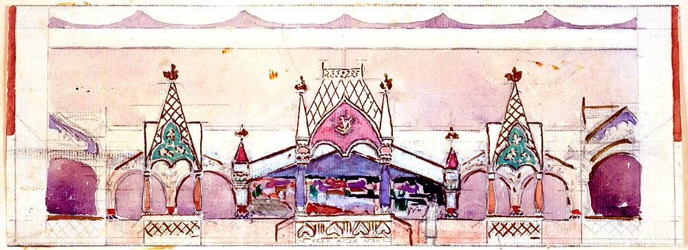 Konstantin Korovin. Handicraft department. Sketch.