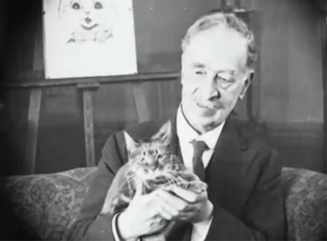 Луис Уэйн на фоне мольберта (ок. 1929)