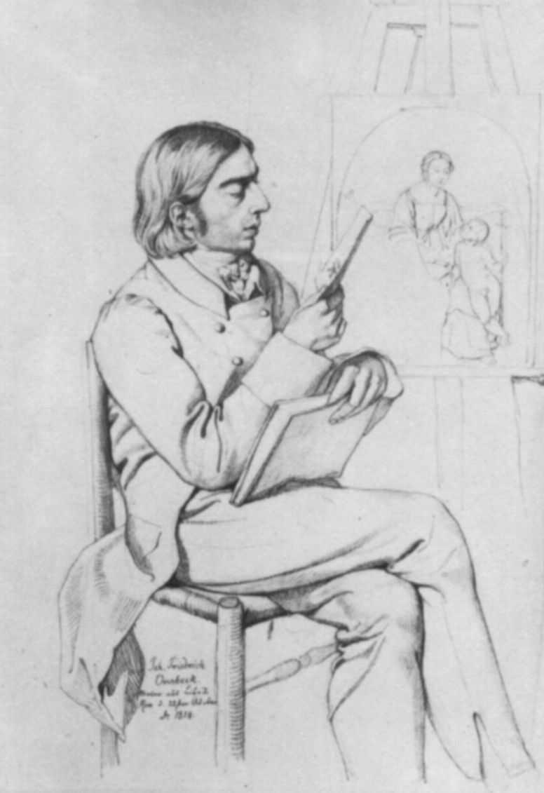 Karl Christian Vogel von Vogelstein. Portrait Of Friedrich Overbeck