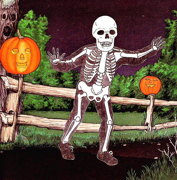 Ян Бретт. Скелет с костями белыми пришел на Хэллоуин