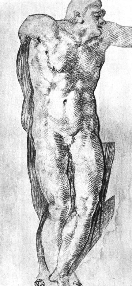 Микеланджело Буонарроти. Исследование обнаженного мужчины