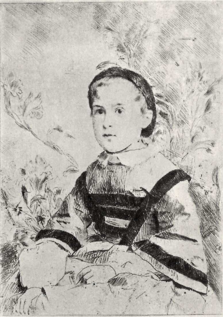 Edgar Degas. Portrait of Mademoiselle Nathalie wolkonsky