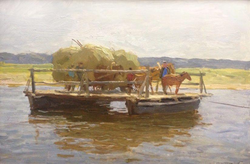 Alexey Mikhailovich Gritsay. Volga. Steam. Sednev.