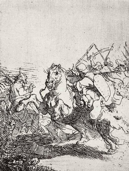 Рембрандт Ван Рейн. Схватка всадников