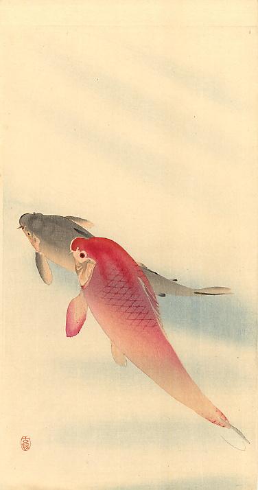 Ohara Koson. Fish 2