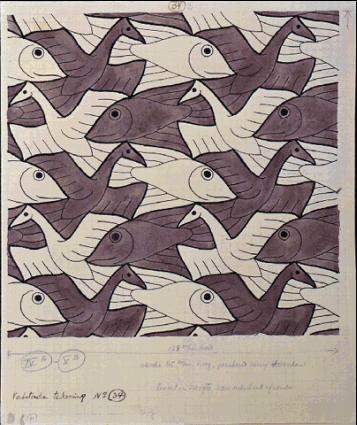 Мауриц Корнелис Эшер. Птицы и рыбы4