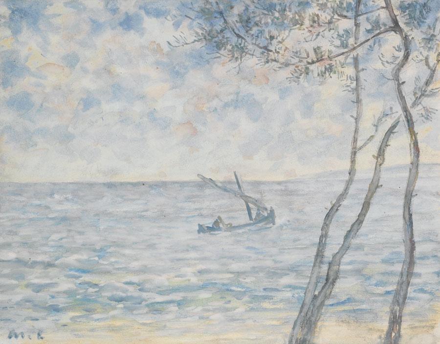 Михаил Федорович Ларионов. Деревья и морской пейзаж, Франция
