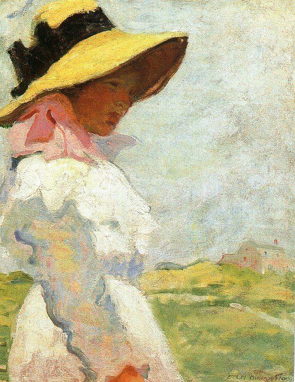 Элла Мирриам Древесина. Дама в желтой шляпе