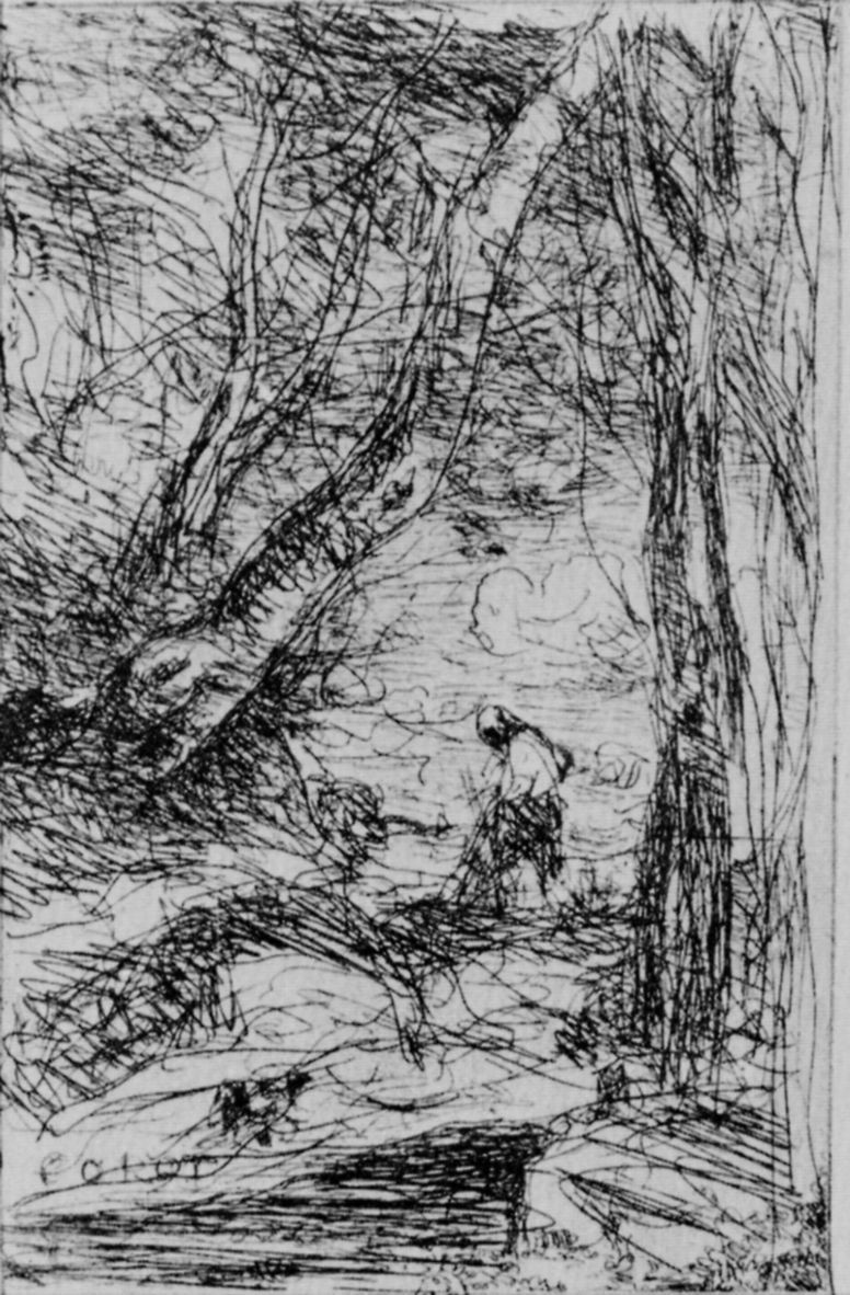 Camille Corot. Woodcutter