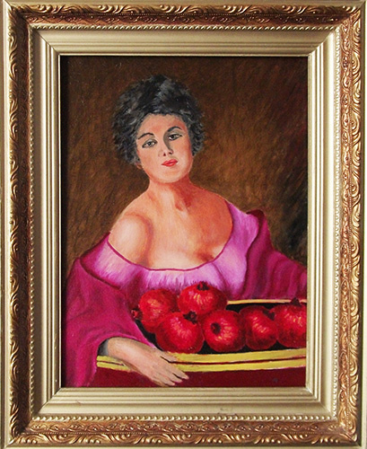 Victor Petrovich Burmin. Woman with fruit