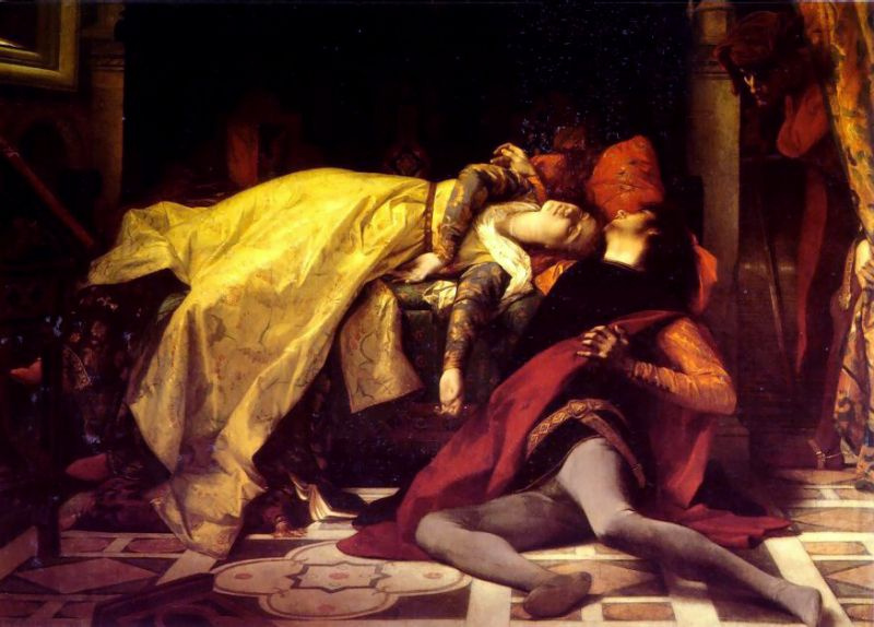 Alexandre Cabanel. The death of Francesca de Rimini