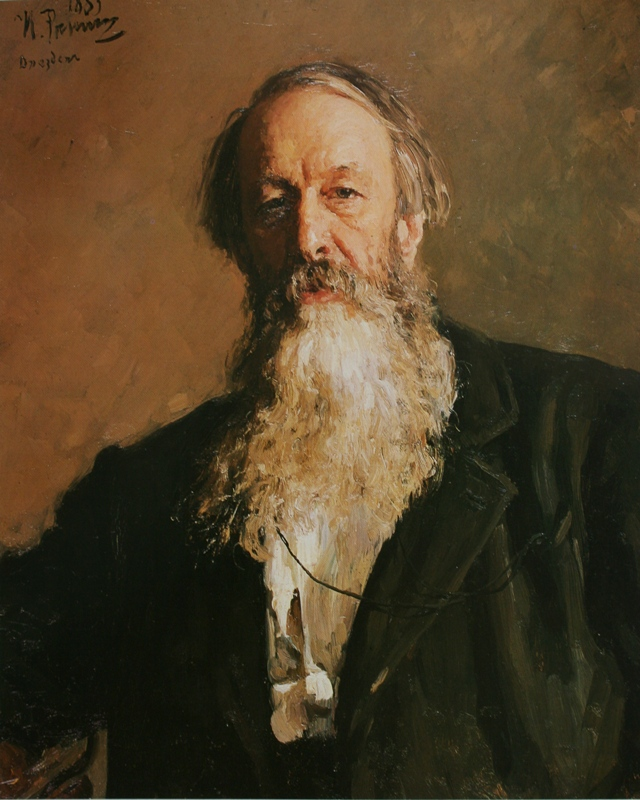 Ilya Efimovich Repin. Portrait of an art and music critic V.V. Stasov. State Russian Museum.