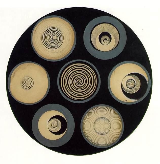 Marcel Duchamp. Disk bearing spirals
