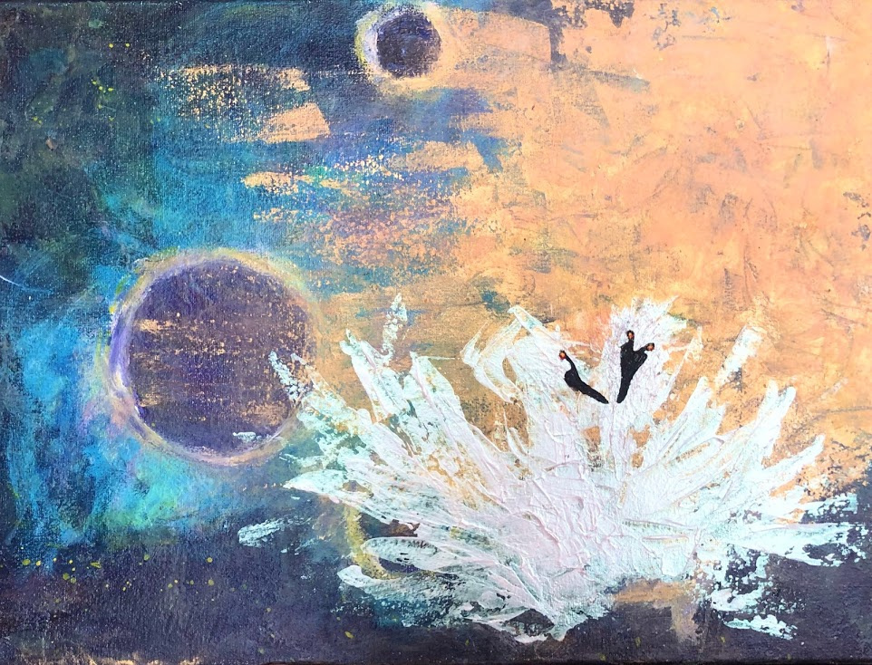 Polina Alexandrovna Karpenko. Swans greet dawn in space