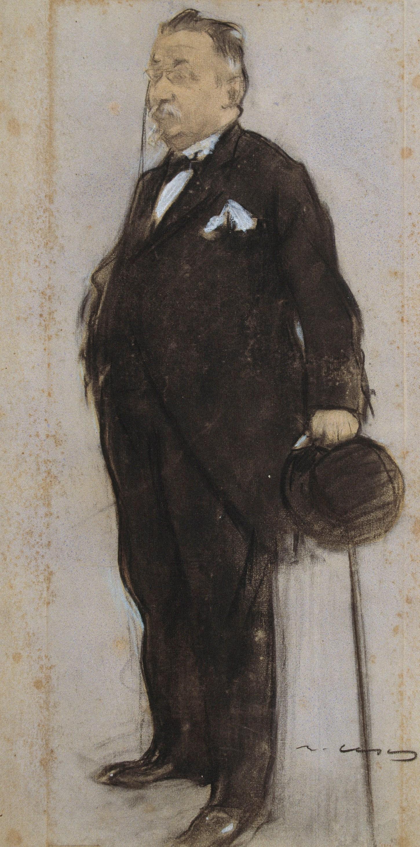 Ramon Casas i Carbó. Portrait of Francesca Mapson