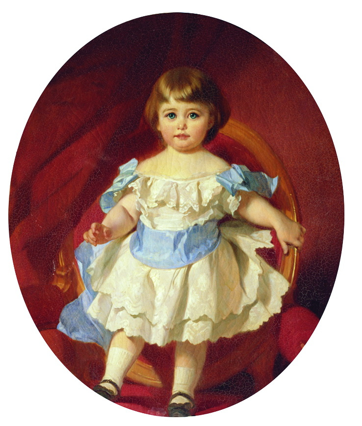 Ivan Kuzmich Makarov. Portrait of Countess M. S. Sheremeteva in childhood (in marriage to Gudovich). 1880s