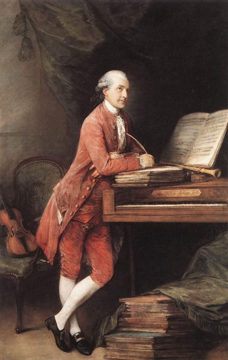 Thomas Gainsborough. Portrait of the composer Joahanna Christian Fischer