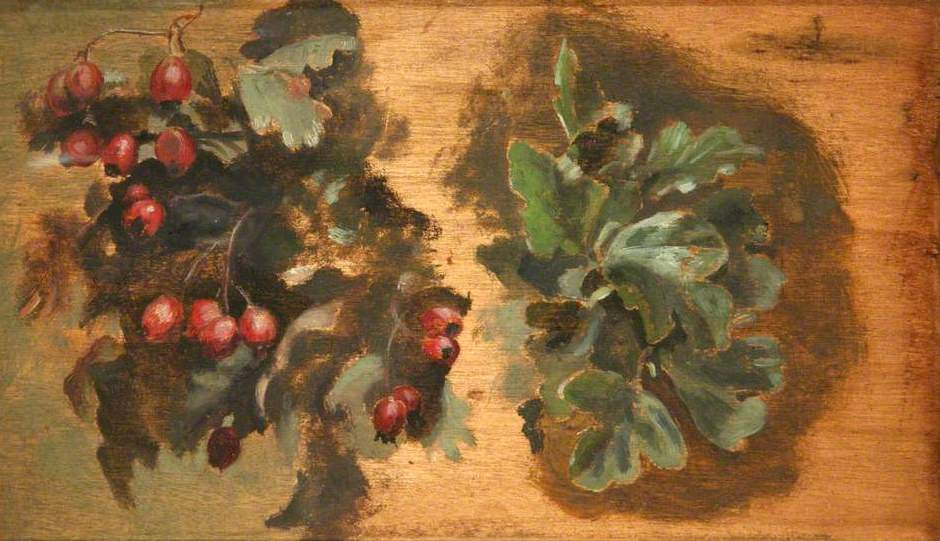 Ford Madox Brown. Hawthorn. Sketch