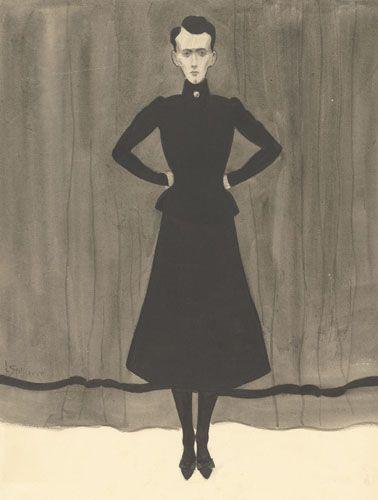 Леон Спиллиарт. Стоящая женщина