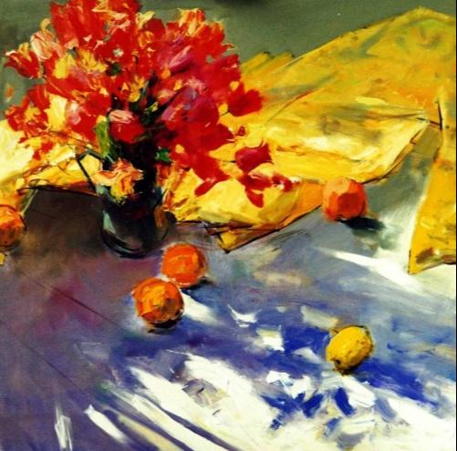 Alexander Vladimirovich Gorbikov. Bouquet and oranges.