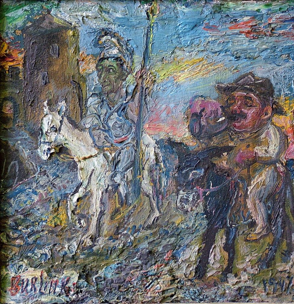 David Davidovich Burliuk. Don Quixote and Sancho Panza