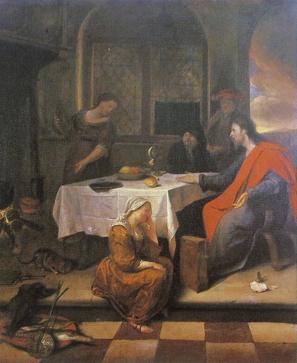Jan Steen. Christ in the house of Martha and Mary
