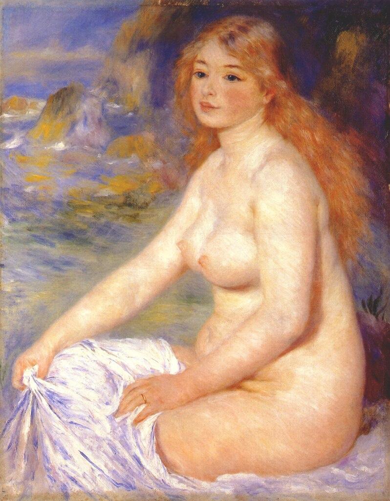 Pierre-Auguste Renoir. Blond bather