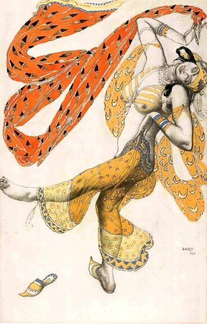 "Lev (Leon) Bakst. Costume design for the ballet ""Scheherazade"""