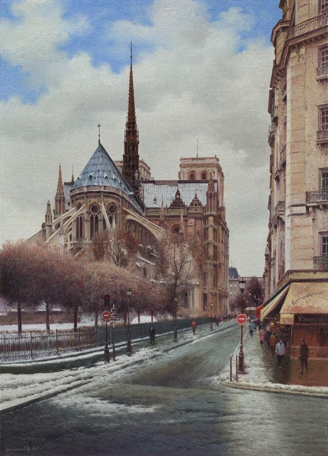 Vasily Ivanovich Gribennikov. Notre Dame de Paris