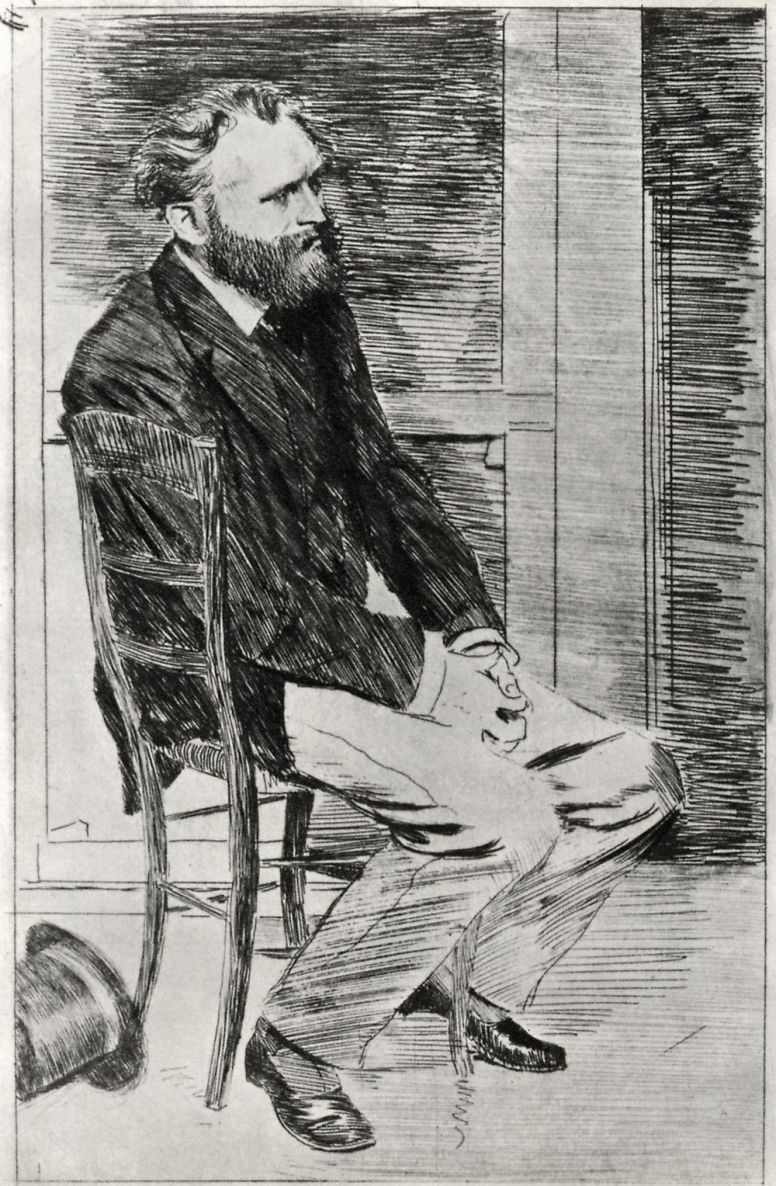 Edgar Degas. Portrait of Edward Manet