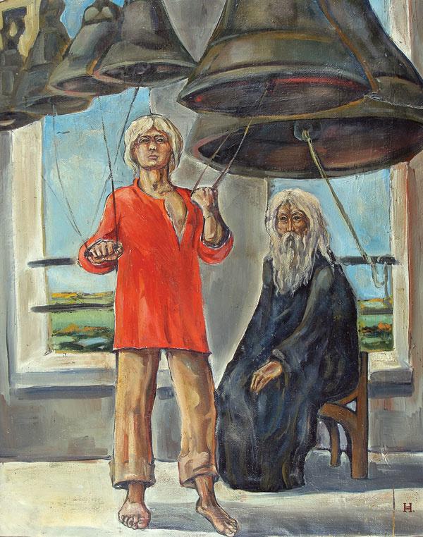 Ksenia Vasilyevna Nechitailo. Grandfather and grandson